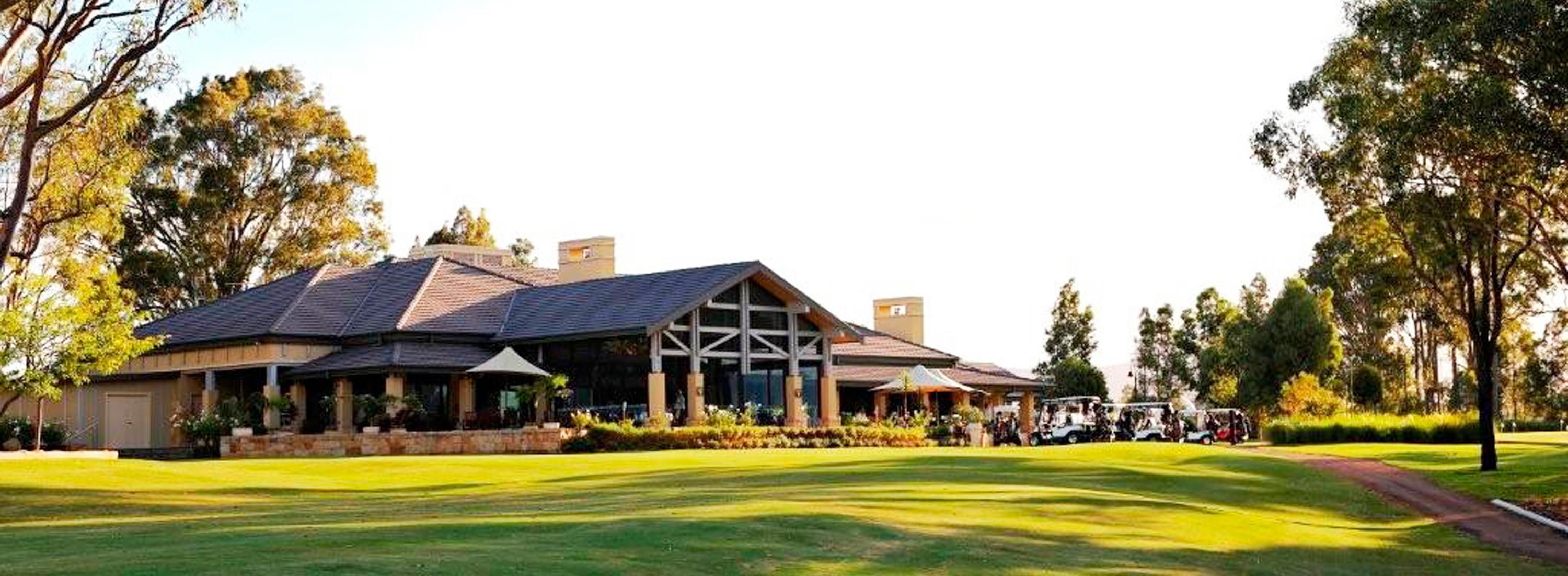 The Vintage Golf Club House external building